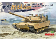 USMC M1A1 AIM/U.S.Army M1A1 Abrams TUSK Main Battle Tank- 1:35e - MENG-Model - TS-032