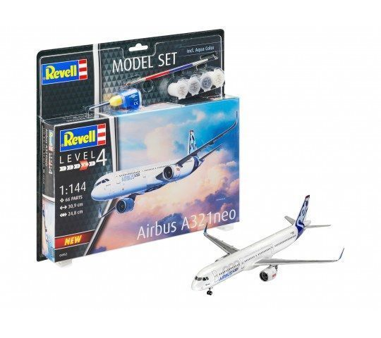 Model Set Airbus A321 Neo - 1:144e - Revell - 64952