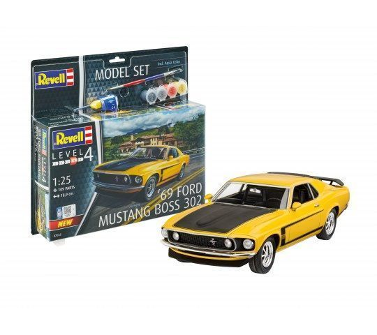 Model Set 1969 Ford Mustang Boss - 1:25e - Revell - 67025