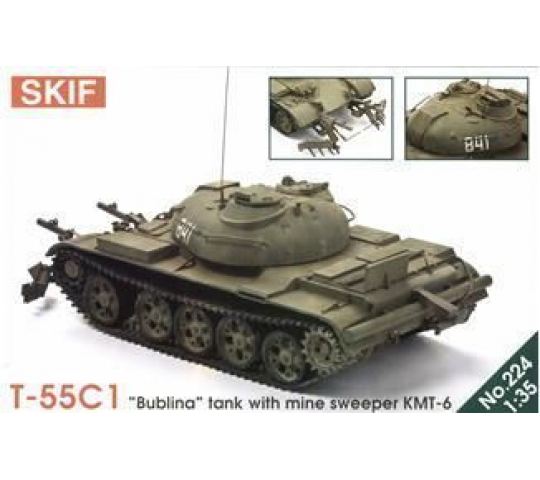 T-55  Bublina  tank with mine sweeper - 1:35e - Skif - MK224