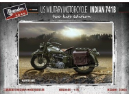US Military Motorcycle Indian 741B (Two kits in box)- 1:35e - Thundermodels - 35003