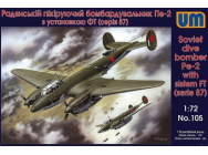 Dive Bomber Pe-2 with FT (87 series) - 1:72e - Unimodels - UM105