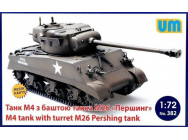 M4 Tank with turret M26 Pershing Tank - 1:72e - Unimodels - UM382
