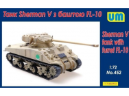 Sherman V Tank with turret FL-10 - 1:72e - Unimodels - UM452