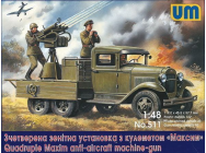 Quadruple Maxim anti-aircaft machine-gun- 1:48e - Unimodels - UM511