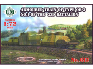 Armored train of type OB-3 No.1 of 23D - 1:72e - Unimodels - UMT613
