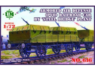 Armored air defense railroad car - 1:72e - Unimodels - UMT616