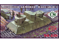 Motorized armored railcar D-3 - 1:72e - Unimodels - UMT639