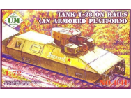 T-28 Tank on rails (armored platform) - 1:72e - Unimodels - UMT641