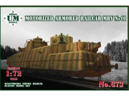 Motorized armored railcar MBV No.01 - 1:72e - Unimodels - UMT673
