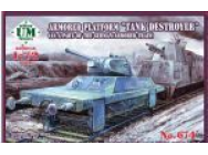 Armored Platform  Tank Destroyer  (as a part of the german armored train)- 1:72e - Unimodels - UMT674