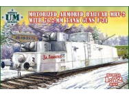 MBV-2 motorized armored railcar w.76,2mm Tank guns F-34- 1:72e - Unimodels - UMT677