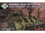 Armored train of type BP-43 Soviet rail- roader  (#2,the 61st. SATD)- 1:72e - Unimodels - UMT678