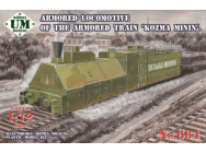 Kozma Minin  armored locomotive of the armored train - 1:72e - Unimodels - UMT684