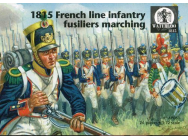 1815 French line infantry fusiliers marching- 1:72e - WATERLOO 1815 - AP061