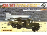 ZiS-151 vehicle w. P-15 anti-ship miss. - 1:87e - ZZ Modell - ZZ87019