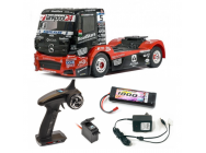 Combo Tamiya TT-01E Camion Mercedes Actros MP4 TankPool24 KIT   batterie, chargeur, radio, servo