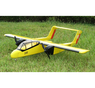 Bronco Ov-10 version feu de foret Jaune/Noir/Rouge - CMP-BRONCO-YELLOW
