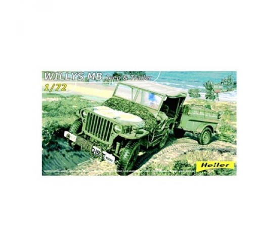 WILLYS MB Jeep & Trailer SERIE 30 Heller - HEL-79997