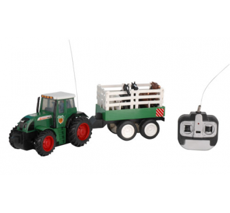 Tracteur agricole 1/26 avec ses 6 animaux Modelco - MCO-436301