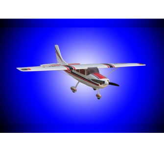 Famous Cessna 206 rouge Brushless 3 axes RTF 3 servos Pret a voler - FMS-FMS001-3-R