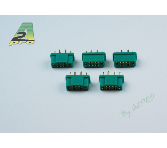 Connecteurs OR male 6 poles (5 pieces) A2PRO - A2P-14141