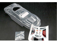 Body, Nitro Rustler (clear, requires painting)/window, grill, lights decal sheet/ wing and aluminum hardware Traxxas - TRX-4412