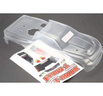 Body, T-Maxx (long wheelbase) (clear, requires painting)/ window, lights decal sheet Traxxas - TRX-4921