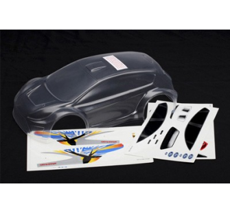 Body, 1/16 Ford Fiesta® (clear, requires painting)/ decals Traxxas - TRX-7312