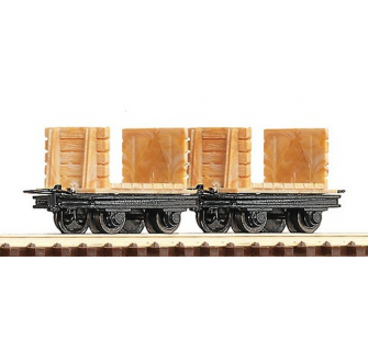 2 wagons bois mines HOe Roco HOe - T2M-R34604