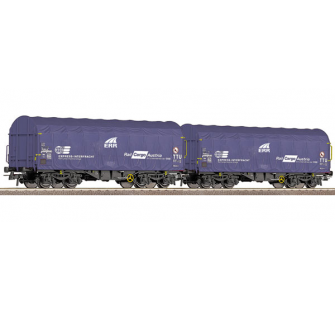 Set 2 wagons baches ERR OBB Roco HO - T2M-R66085