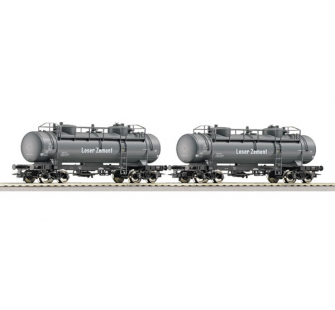 Set 2 wagons citernes ciment DB Roco HO - T2M-R66150