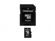 MicroSDHC 4GB Intenso + Adaptateur CL10 - Blister - MKT-10732
