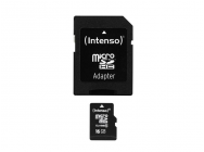 MicroSDHC 16GB Intenso + Adaptateur CL10 - Blister - MKT-10734