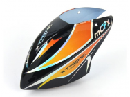 Pre-Painted Canopy (Type C) MCPX -BLACK (w/  Tail Fin Sticker) - XTR-MCPX020-BK