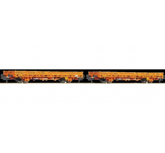 Set 2 wagons ranchers OBB Roco HO - T2M-R67048