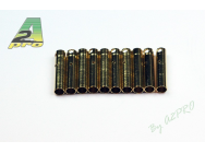 Contact femelle plaque OR 4mm (10 pieces) A2PRO - A2P-14042