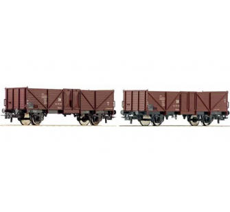 Set 2 wagons tombereaux DR Roco HO - T2M-R67061