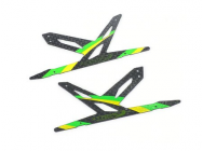 Spare Carbon Panel for Xtreme CF Skid (Green - 2 pcs) Blade 130X - B130X11-P2G