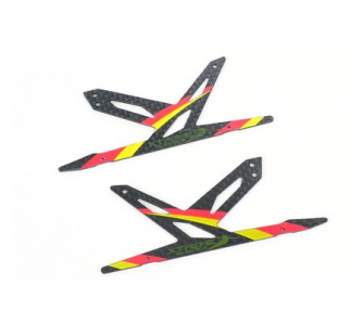 Spare Carbon Panel for Xtreme CF Skid (Red - 2 pcs) Blade 130X - B130X11-P2R