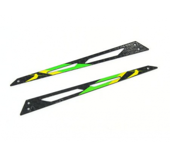 Carbon Tail Boom Support (Green - 2 pcs) - Blade 130X - B130X12-G
