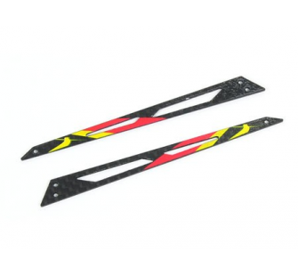 Carbon Tail Boom Support (Red - 2 pcs) - Blade 130X - B130X12-R