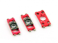Spare Bearing Blocks & Motor Mount for CF Frame-B130X ( Red ) - B130X26-RC