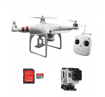 Pack DJI Phantom RTF M1 + Valise + Carte 16Gb + Gopro 3 Black - BDL-PHANT-GOPRBLACK