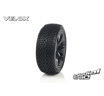Tyre set pre-mounted  Velox RC M2 Medium  , fits  Buggy 1/8  17mm Hex Rims Medial Pro - MPR-MP-6405-M2