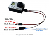 Cable video et alimentation pour Gopro 3 (mini USB) - BEEFPV01