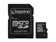 MicroSDHC 16GB Kingston CL4 - MKT-2388