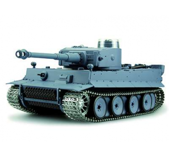 Char RC Panzer Tiger I - Son Fumee Chenilles et boite Metal - Amewi