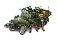 US M3A1 Half-Track + soldats - Force Of Valor