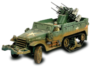 US M16 Multiple Gun Motor Carriage + soldats - Force Of Valor